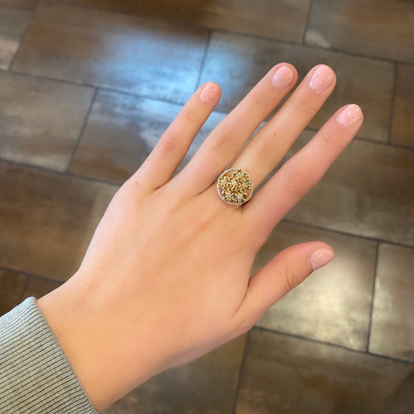 14K GOLD DIAMOND ZARA RING