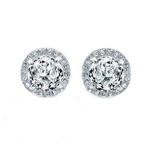 14K ROSE GOLD DIAMOND WHITE TOPAZ ESME STUDS