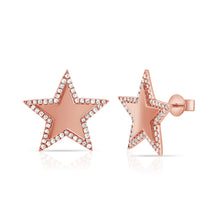 14K GOLD DIAMOND JASMINE STAR EARRINGS