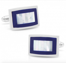 Lapis & Mother of Pearl Key Cufflinks