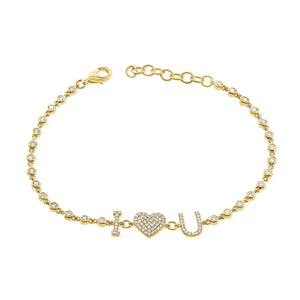 14K GOLD DIAMOND LORELAI BRACELET