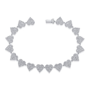 14K GOLD DIAMOND MEDIUM PHOEBE HEART BRACELET
