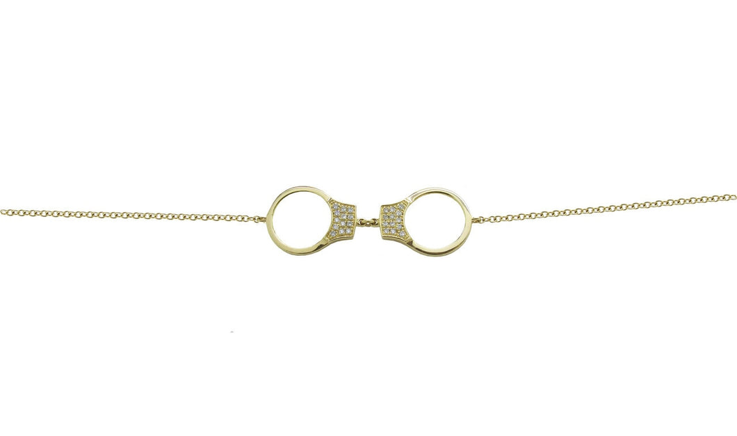 Diamond Handcuff Bracelet in 14k Gold