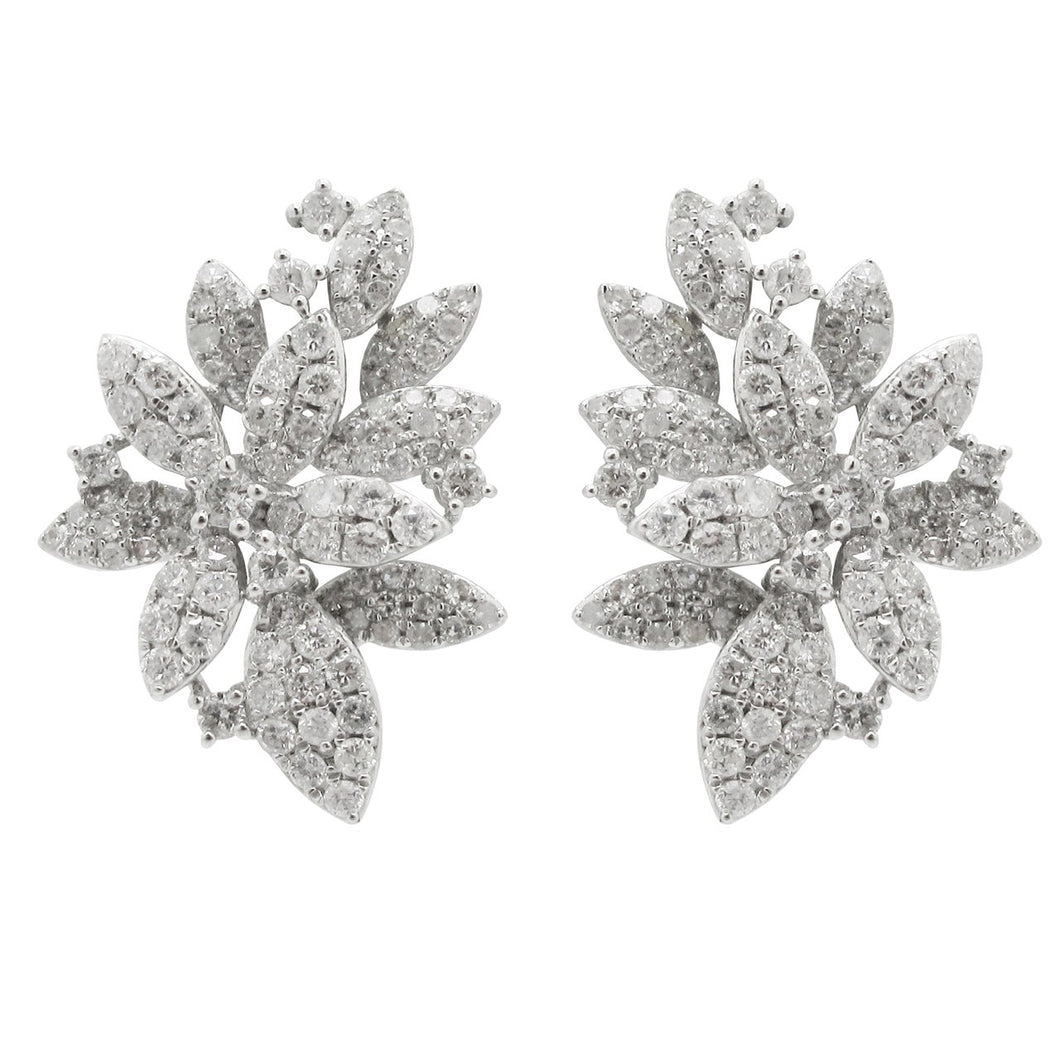 14K WHITE GOLD DIAMOND SELINA EARRINGS