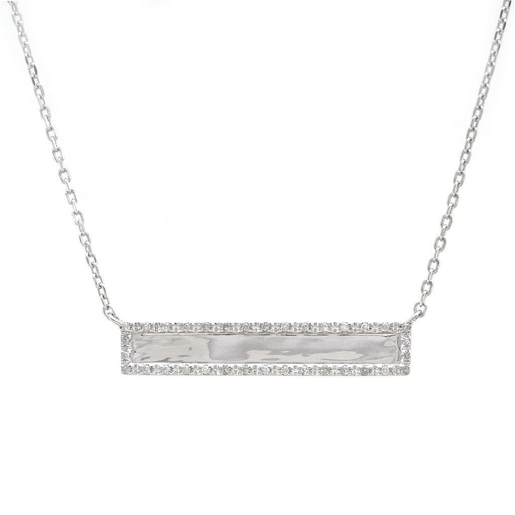 STERLING SILVER ENGRAVEABLE ID NECKLACE