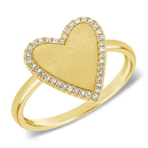 14K GOLD DIAMOND SMALL COURTNEY HEART RING