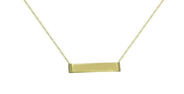 Diamond ID Jess Necklace in 14k Yellow Gold