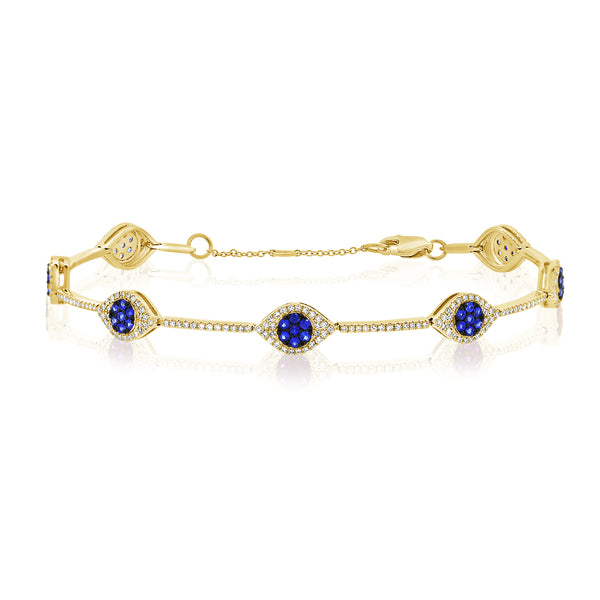 14K GOLD DIAMOND COREY EYE BRACELET