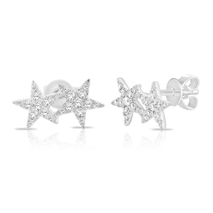 14K GOLD DIAMOND COLBIE STAR STUDS