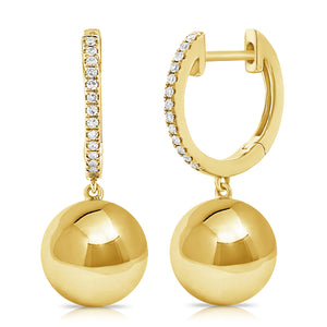 14K GOLD DIAMOND ELYSE EARRINGS