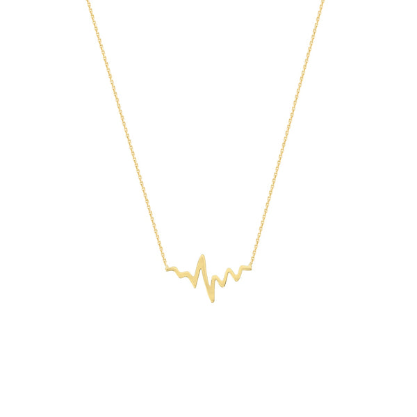 14K GOLD HEARTBEAT NECKLACE