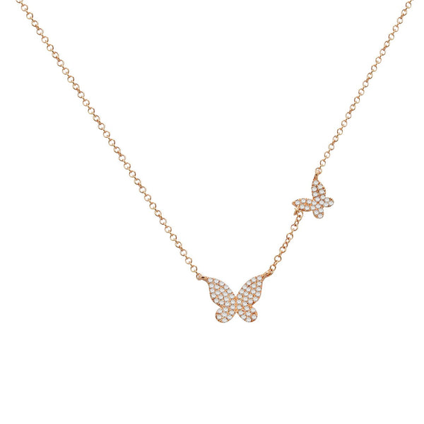 14K GOLD DIAMOND BECCA NECKLACE (ALL COLORS)