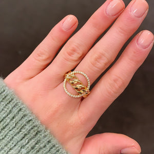 14K GOLD DIAMOND GERI RING