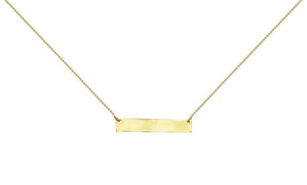 ID necklace in 14k Yellow Gold
