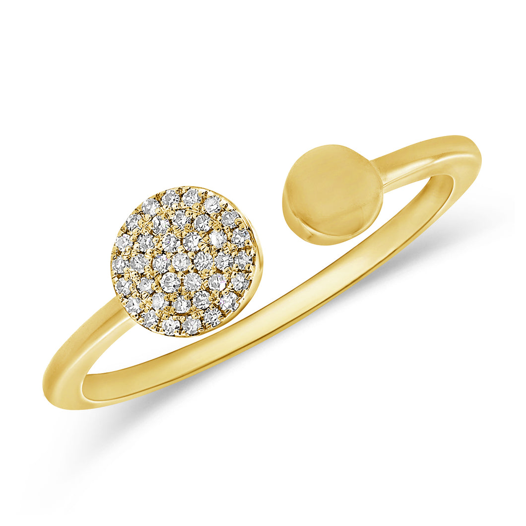 14K GOLD DIAMOND IRIS RING