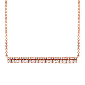 Diamond Double Bar Necklace in 14k Gold (All Colors)