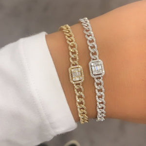 14K GOLD DIAMOND ELIZABETH BRACELET