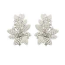 14K WHITE GOLD DIAMOND ORA EARRINGS