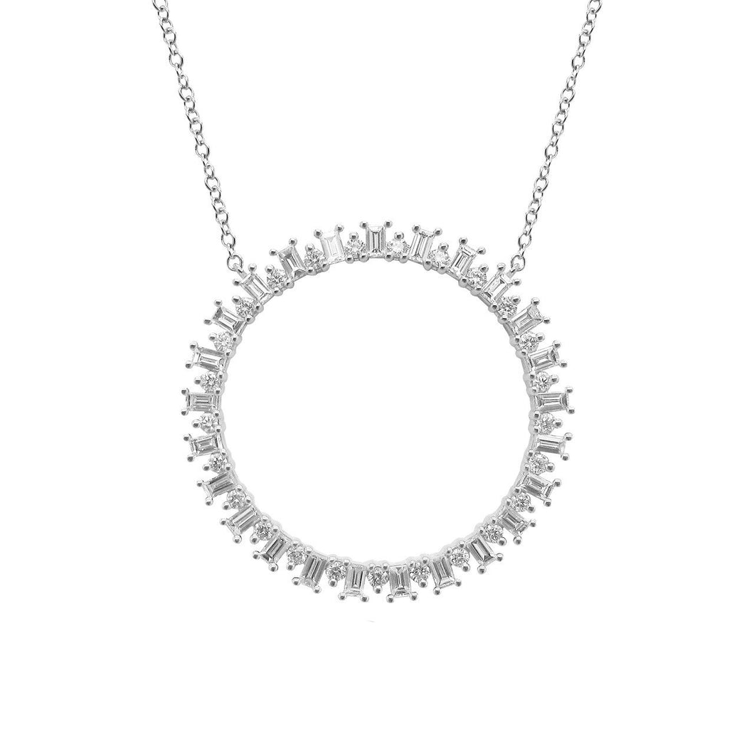 14K GOLD DIAMOND JENNY NECKLACE