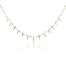 14K GOLD DIAMOND CARDI SPIKE NECKLACE