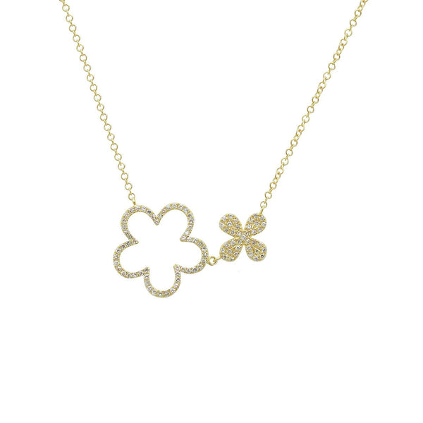 14K GOLD DIAMOND OPEN ALLISON NECKLACE