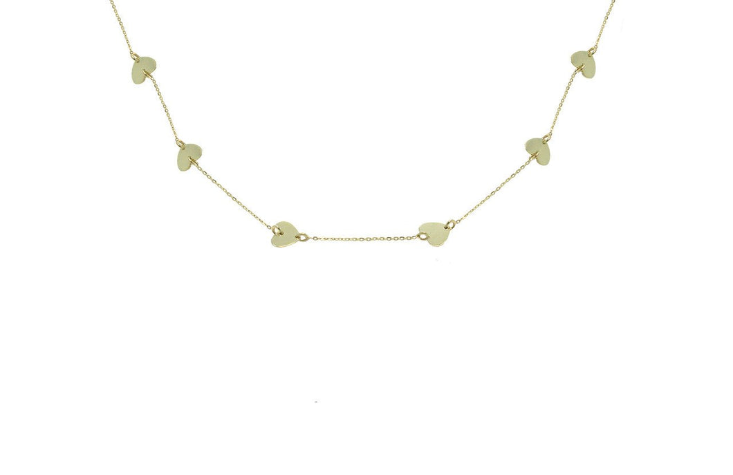 14K GOLD DIAMOND BETTY HEART NECKLACE