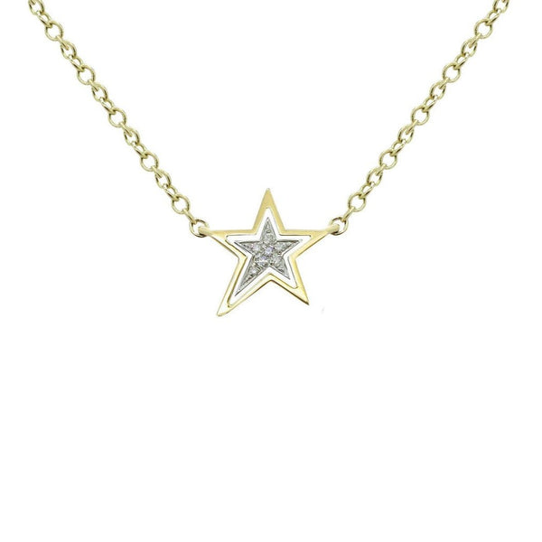 14K GOLD DIAMOND ZENA STAR NECKLACE