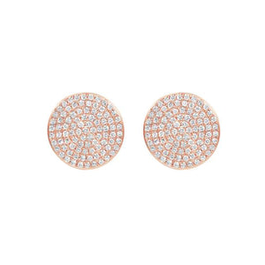 14K GOLD DIAMOND LARGE ANNIE CIRCLE STUDS