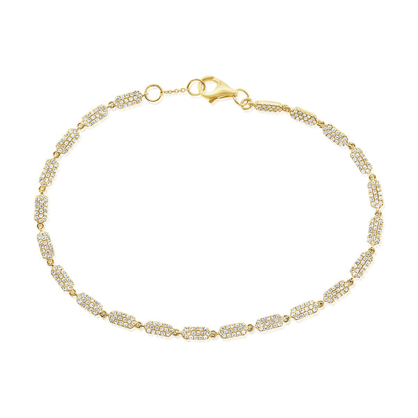 14K GOLD DIAMOND LILAH BRACELET