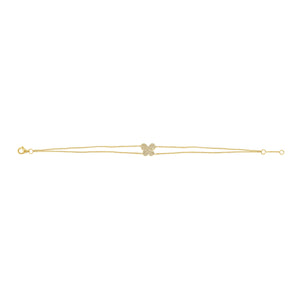 14K GOLD DIAMOND LARGE AVERY BUTTERFLY BRACELET