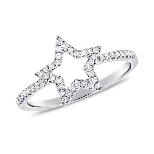 14K GOLD DIAMOND RIKKI STAR RING