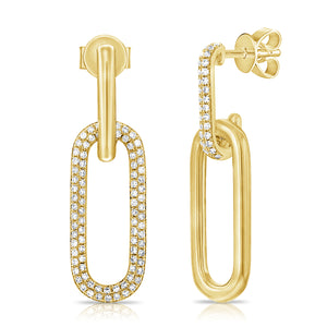 14K GOLD DIAMOND KENDALL EARRINGS