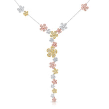 14K GOLD DIAMOND RAYNA FLOWER NECKLACE