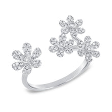 14K GOLD DIAMOND MICHAELA FLOWER RING