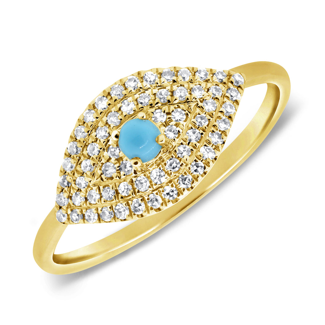 14K GOLD DIAMOND MIRIAM EYE RING
