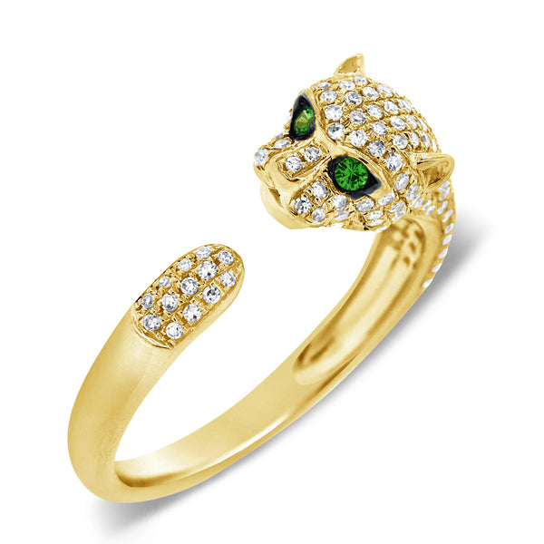 14K GOLD DIAMOND EMMA JAGUAR RING