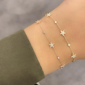 14K GOLD DIAMOND ATARA STAR BRACELET