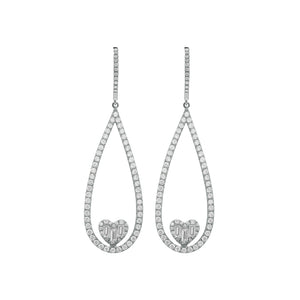 14K GOLD DIAMOND ELEANOR EARRINGS