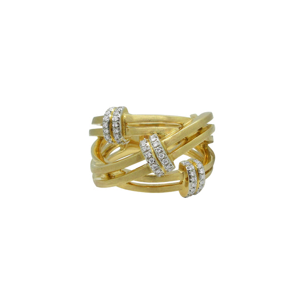 14K GOLD DIAMOND EMILY RING