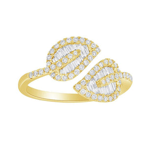 14K GOLD DIAMOND ELIZABETH RING