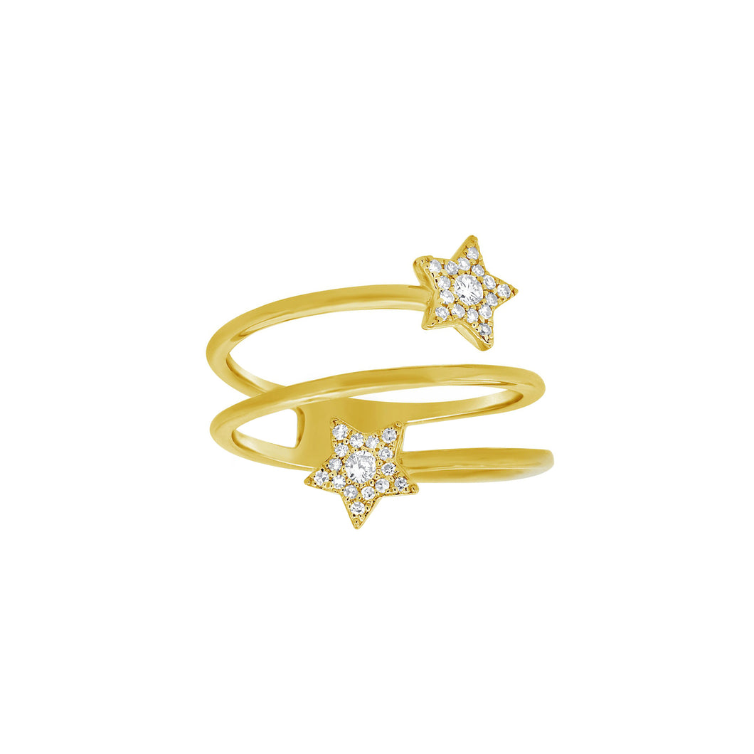 14K GOLD DIAMOND HOLLY RING