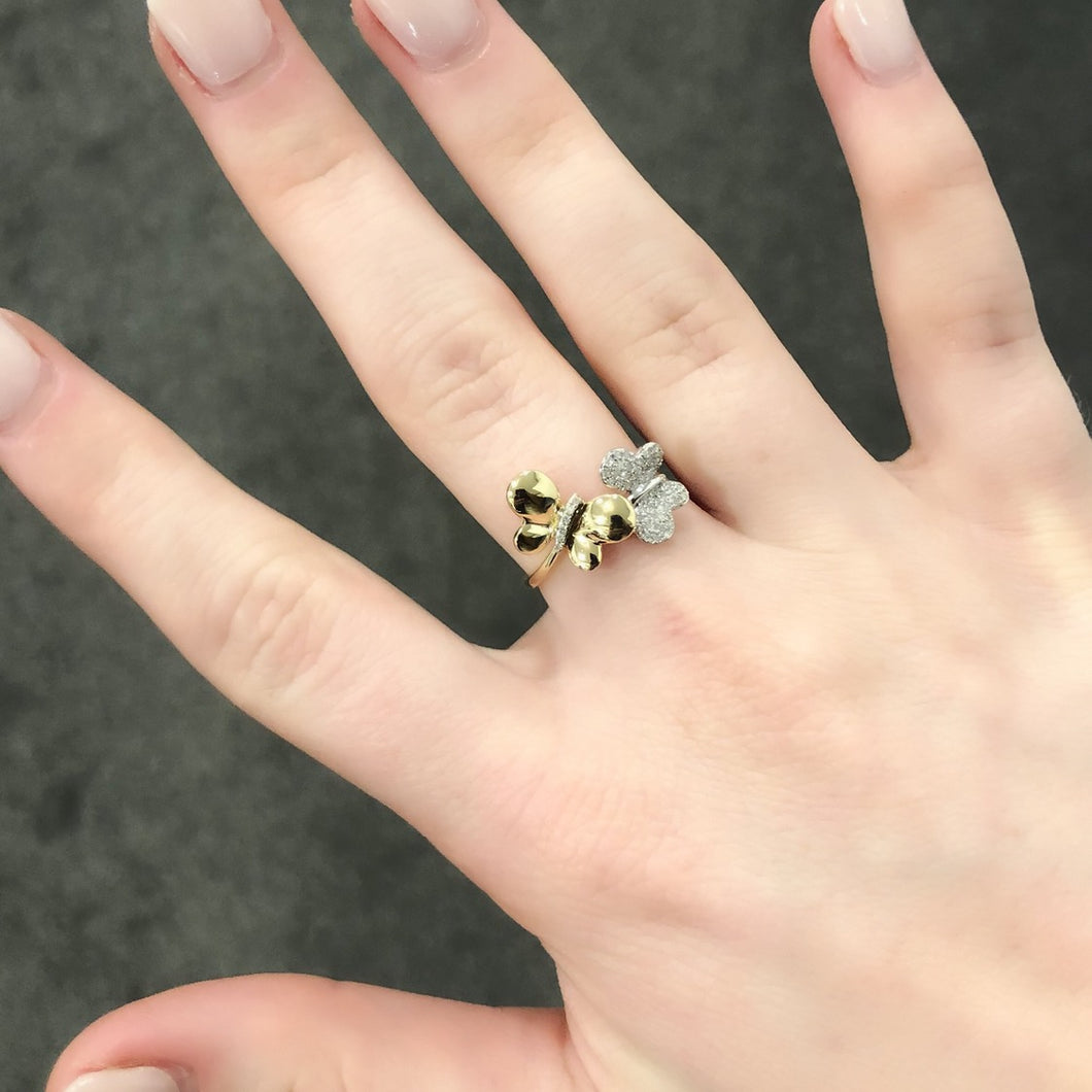 14K GOLD DIAMOND MABEL BUTTERFLY RING