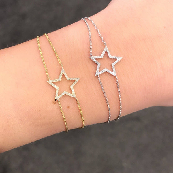 14K GOLD DIAMOND ARIANA STAR BRACELET