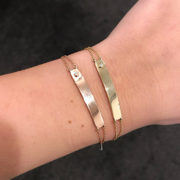 14K GOLD DIAMOND JOLIE ID BRACELET