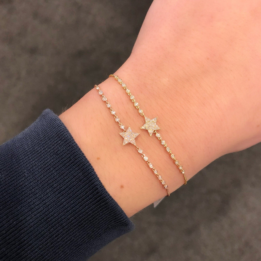 14K GOLD DIAMOND RENEE STAR BRACELET