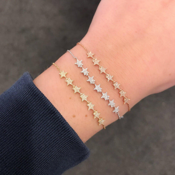 14K GOLD DIAMOND SOPHIA STAR BRACELET