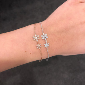 14K GOLD DIAMOND CHLOE FLOWER BRACELET