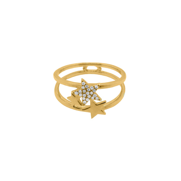 14K GOLD DIAMOND MYLA STAR RING