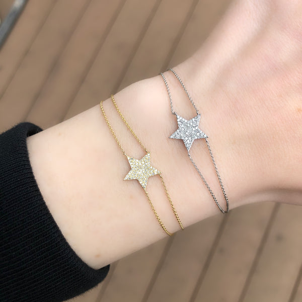 14K GOLD DIAMOND AVERY STAR BRACELET