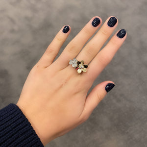 14K GOLD DIAMOND ISABELLE FLOWER RING